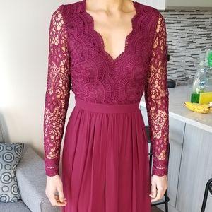 Lulus Burgundy Bridesmaid Dress